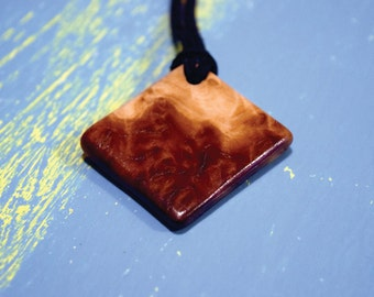 Red Mallee Burl Wood Necklace