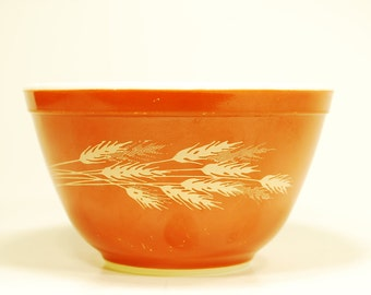 Vintage Pyrex 401 Autumn Harvest Small Mixing Bowl