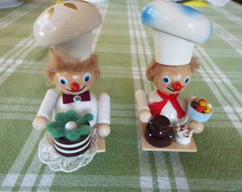 2 Steinbach baker chef Christmas  ornaments