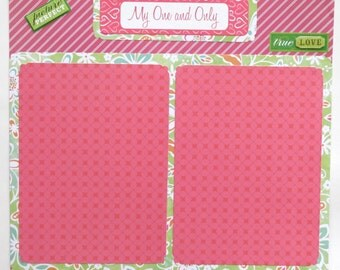 """SALE - One and Only Love 12x12"""" Premade Scrapbook Layout"""