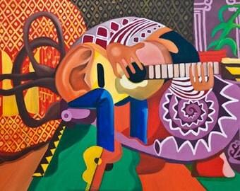 The Guitarist- Sold as Fine Art Print.
