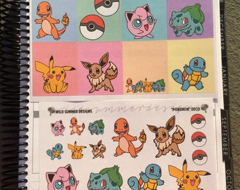 Pokemon // Weekly Planner Sticker Kit