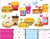 80%OFF - Food Clipart, Food Graphic, COMMERCIAL USE, Planner Accessories, Perfect Pair, Valentine Graphics, Valentine Clipart, Love Clipart