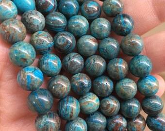 8mm Blue Sky Jasper Gemstone Beads - 14 inch Full strand - Round Gemstone Beads