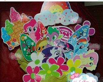 ON SALE 15% OFF My little pony Centerpiece, My little Ponny centerpiece decorations