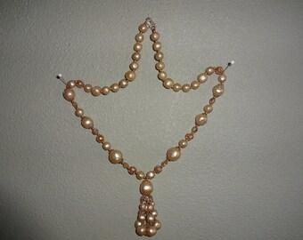 Tasseled beaded necklace
