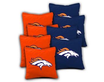 DENVER BRONCOS Set of 8 ACA Regulation Cornhole Bags Bean Bag Toss