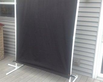 Photobooth backdrop fabric. Solid Black fabric backdrop. Wedding photobooth backdrop, Photography backdrop, Black backdrop.
