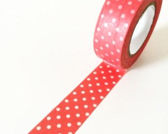 Pretty red polka dots washi tape