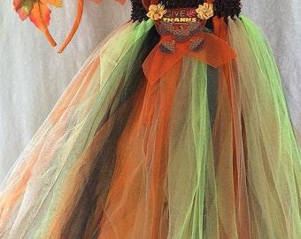 THANKSGIVING TUTU DRESS size 12 mths to 3 yrs