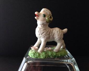Vintage Ceramic Lamb Satuette