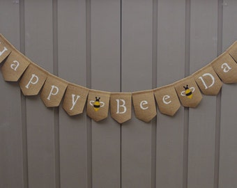 Bee Birthday Banner, Happy Bee Day Banner, Bumble Bee Birthday, Bumble Bee Party, Honey Bee Birthday Party, 1st Birthday, Baby Bee