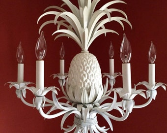 Vintage Tole Pineapple Chandelier