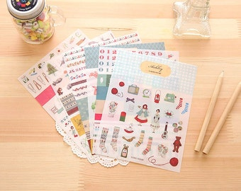 Ashley Diary Stickers | Cute Diary Deco Stickers