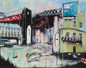 The Impure Art Print Mixed Media Urban Painting