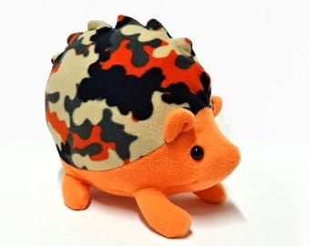 HEDGEHOG Plush Orange, Stuffed HEDGEHOG Orange, Woodland Animal Decor Doll