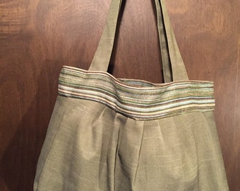 Olive Green Hobo - SALE