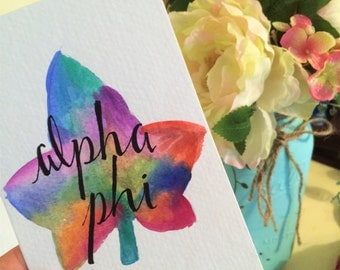 Alpha Phi Watercolor