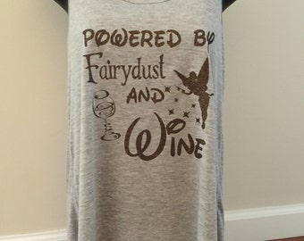 Tank top, fairy dust and wine