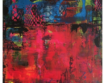 Pow Scape by Linda Charles - Original Abstract Art Contemporary Modern on Board
