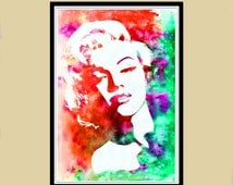 Popular Items For Marilyn Monroe Art On Etsy