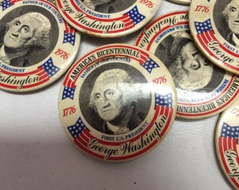 Bicentennial George Washington Pins