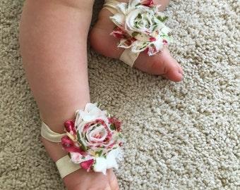 Baby Sandals, Flower sandals, baby, sandals, toodler