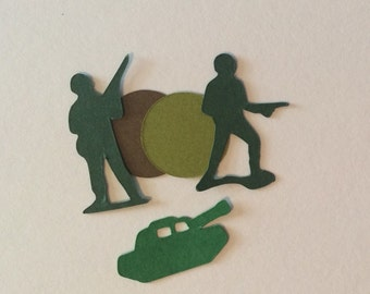 Army Men Confetii, Army Men and Tank Confetti, Army Themed Party, Toy Soldier Confetti