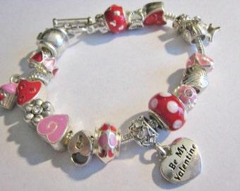 February Slide Charm Bracelet