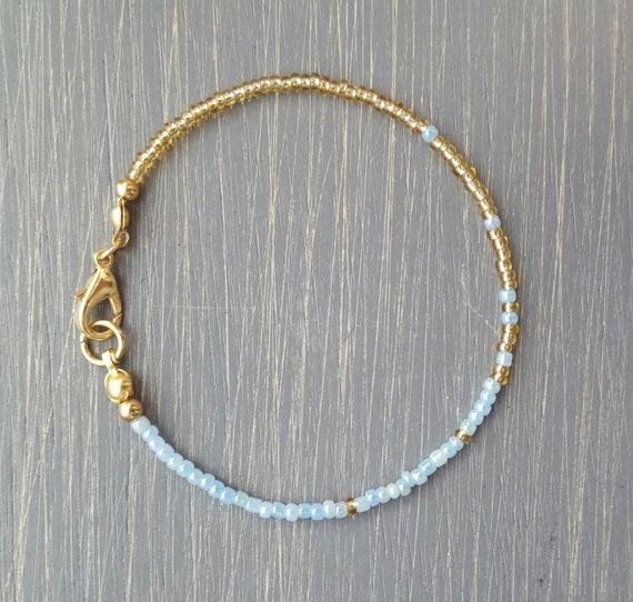 Simple Stunning Seed Bead Friendship Bracelet Gold