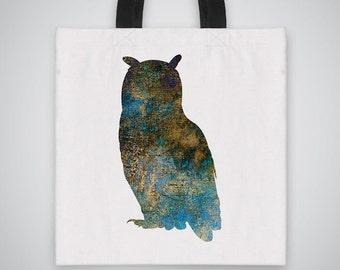 Owl silhouette Tote Bag - Art Tote - Market Bag - Shoulder Bag - Canvas Bag