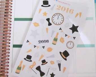 Decorative New Year's Eve Stickers