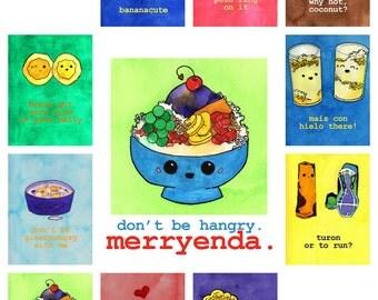 Merryenda Postcard Pack