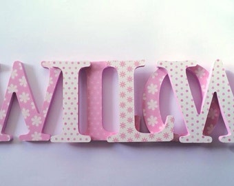Personalised Wooden Letters - Nursery Letters - Name Letters - Nursery Decor - New Baby - Wall Letters - Decorated Letters - Custom Letters