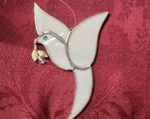 PEACE DOVE -  Stained Glass – Sun Catcher – Window Décor – Nursery Window – Bird Lover's Gift – Peace Symbol