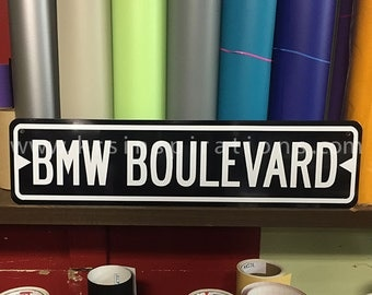 BMW Boulevard Metal Street Sign