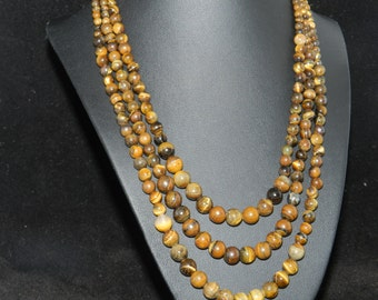 CLEARANCE *Three Strand Tiger Eye Necklace