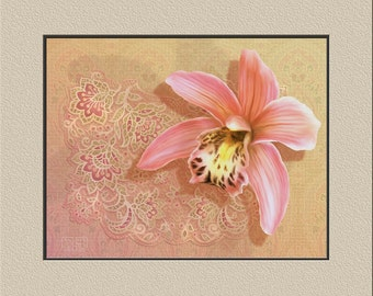 Orchid with lace