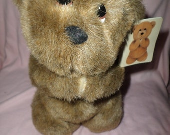 Bearing Blessing Bear by Gibson Greetings brown praying vintage