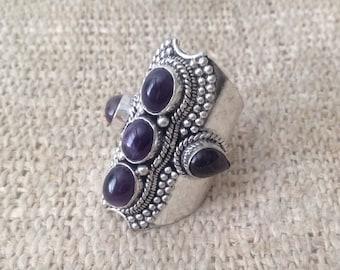 Vintage Amethyst Fivestone Ring