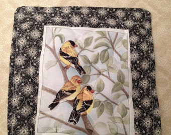 Wild Canary - Yellow FInch Mug Rug