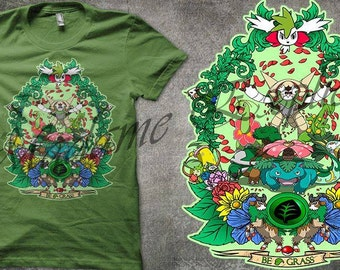 T-shirt  pokemon grass