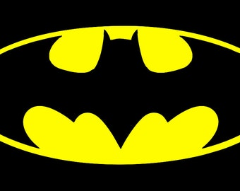 Batman License Plate  BLK andYELLOW / BLK  and PINK