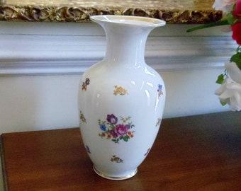 Vintage Reichenbach Porcelain Vase, Mid Century Germany Porcelain Floral Vase, Reichenbach German Democratic Republic Collectable Vase,1950s