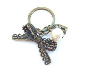 Keychain Bow and Bead