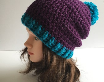 Tuque slouchy for adult