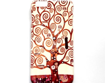 Tree Phone Case, Klimt Tree of Life iPhone 6 plus Cover, Brown Swirls Phone Case for iPhone 6 plus