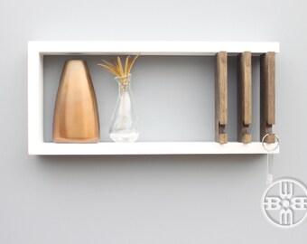 Modern Shelf key holder with shelf-modern shelf jewelry rack key