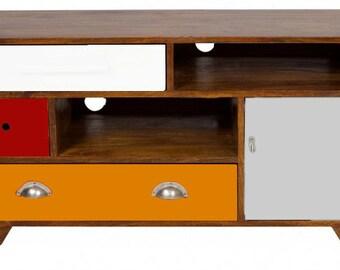 Manuel: Storage cabinet - TV stand - Solid wood - Walnut