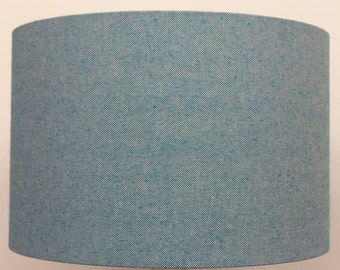 Nova Turquoise Blue  Linen Effect Lampshade, Table Lamp, Pendant, Ceiling Shade
